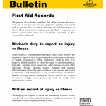 First Aid Records PDF